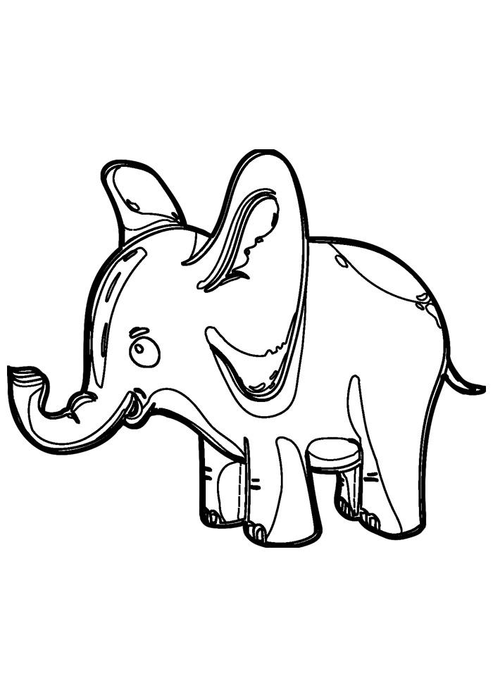 elefante para colorir 9