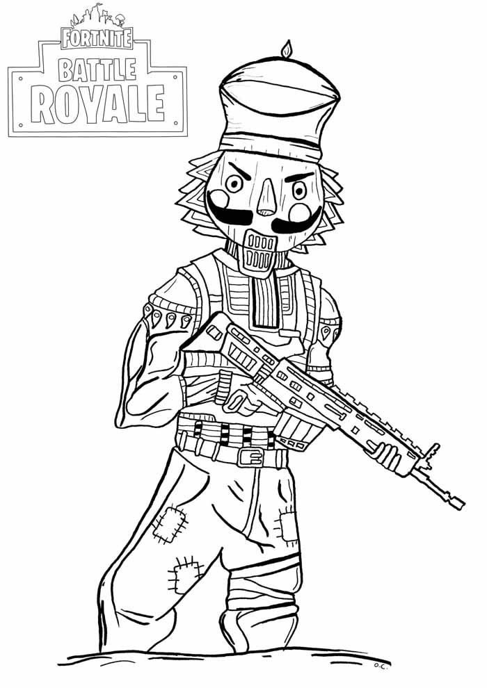 fortnite para colorir 1