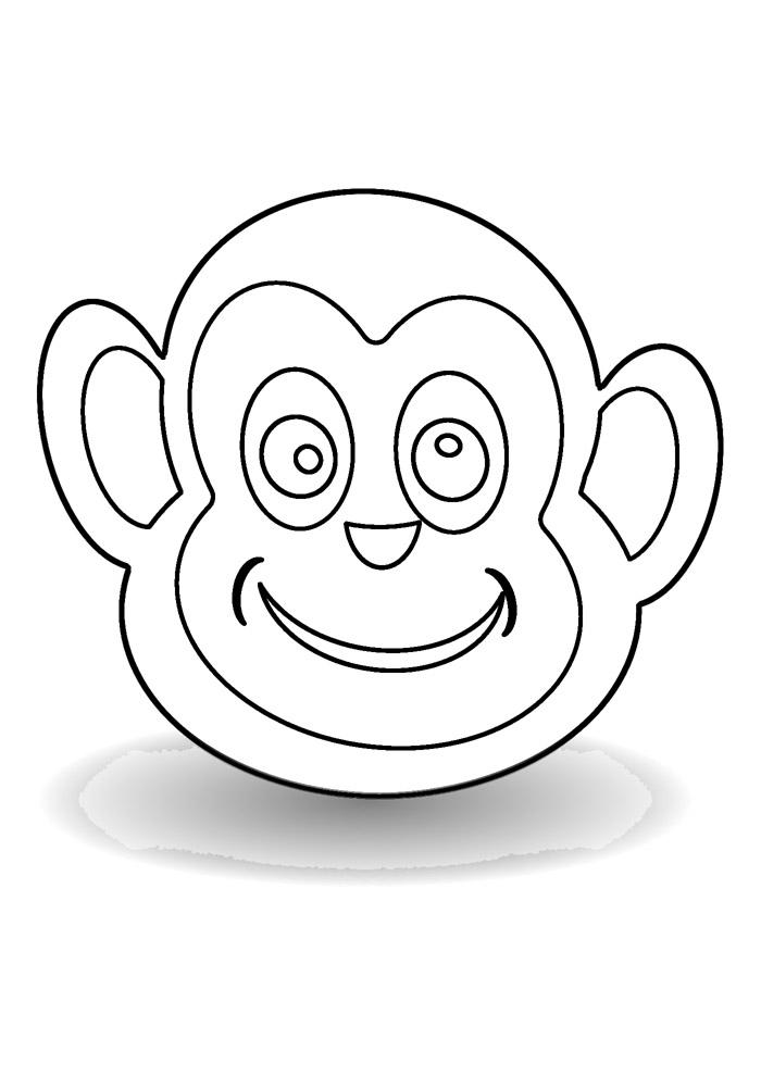 macaco para colorir 10