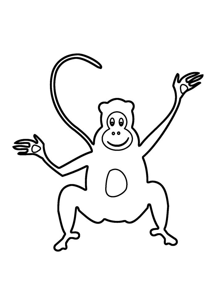 macaco para colorir 15