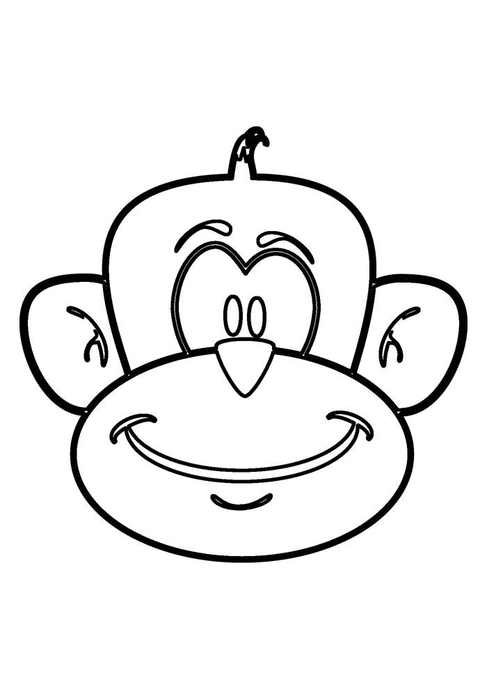 macaco para colorir 18