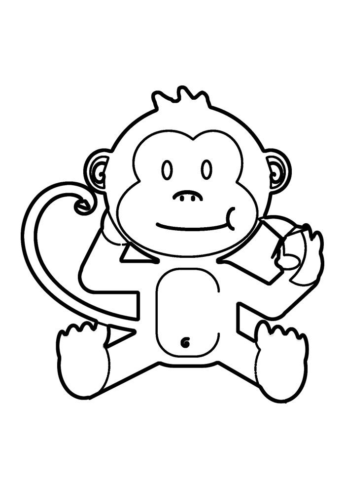 macaco para colorir 2