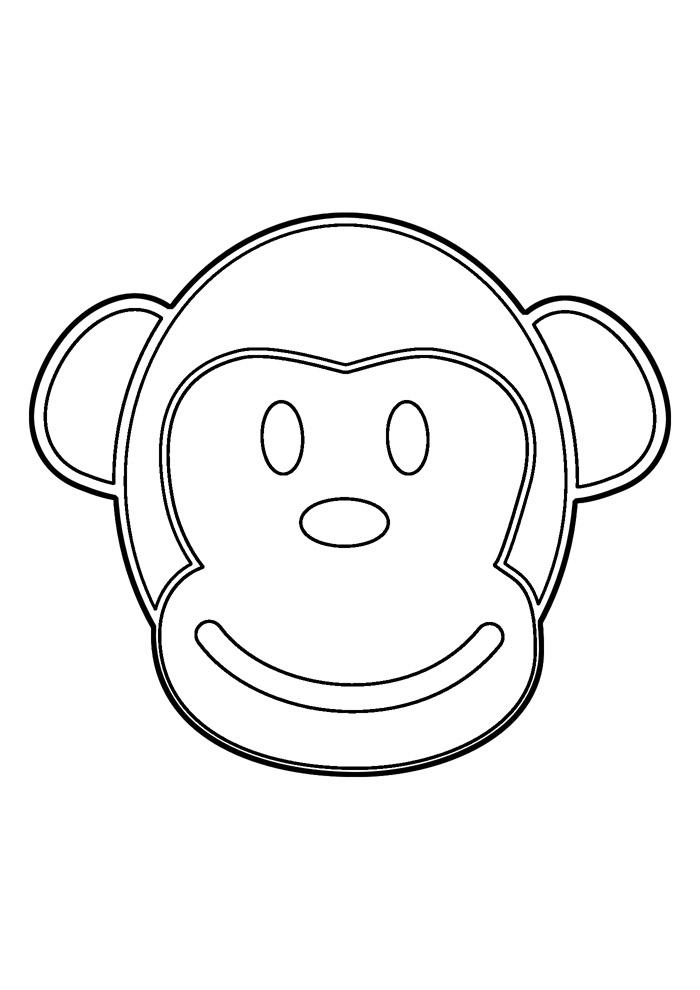 macaco para colorir 21
