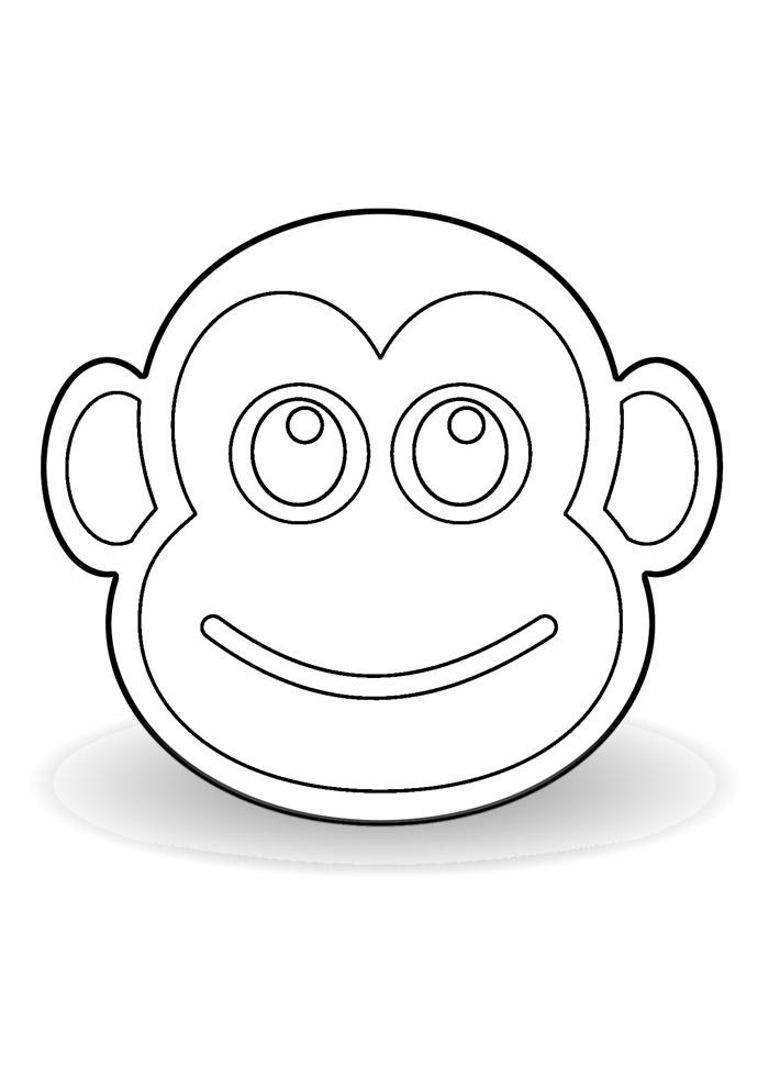 macaco para colorir 22