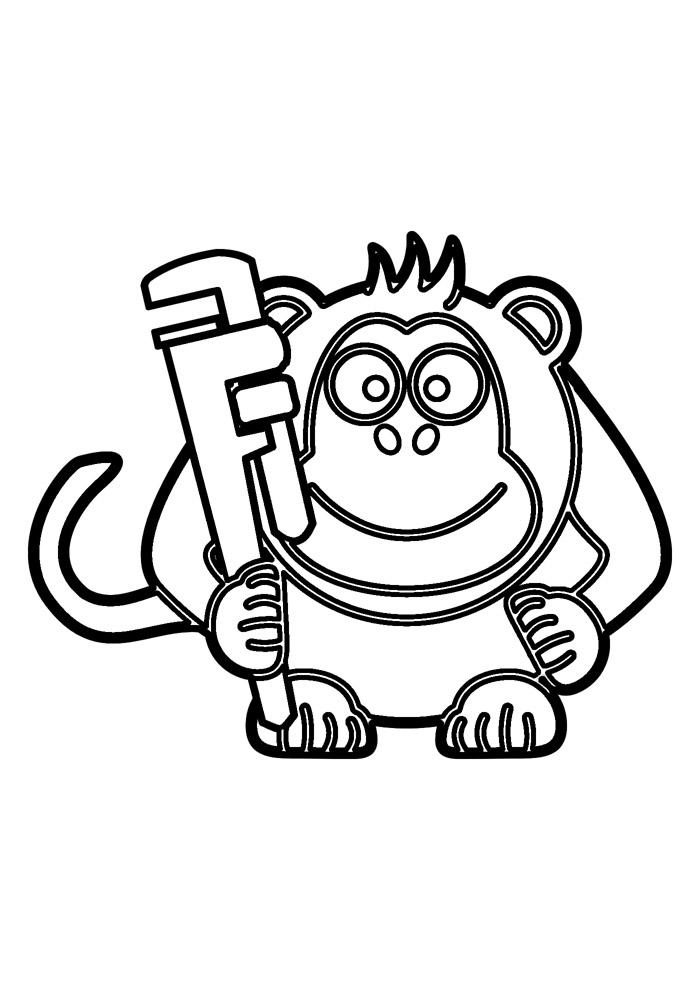 macaco para colorir 24