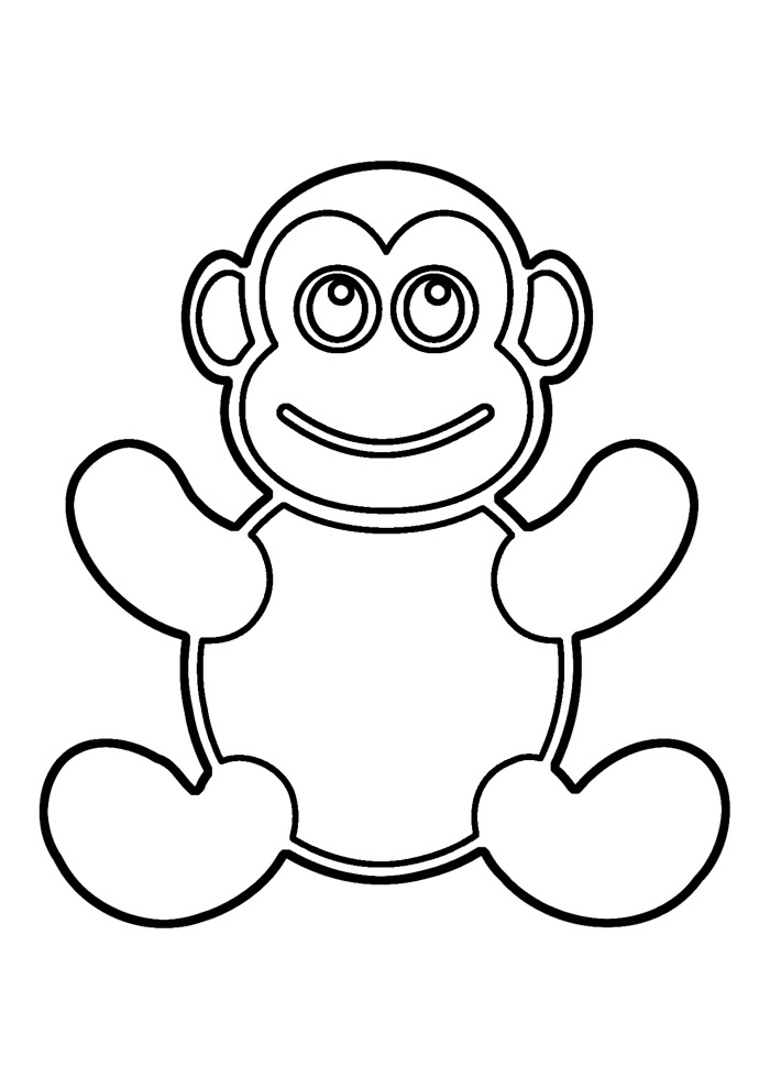 macaco para colorir 25