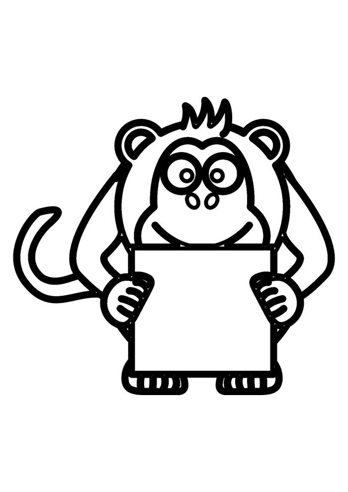macaco para colorir 27