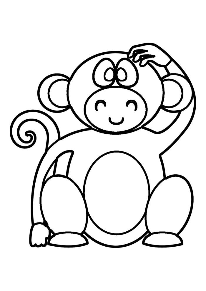 macaco para colorir 32