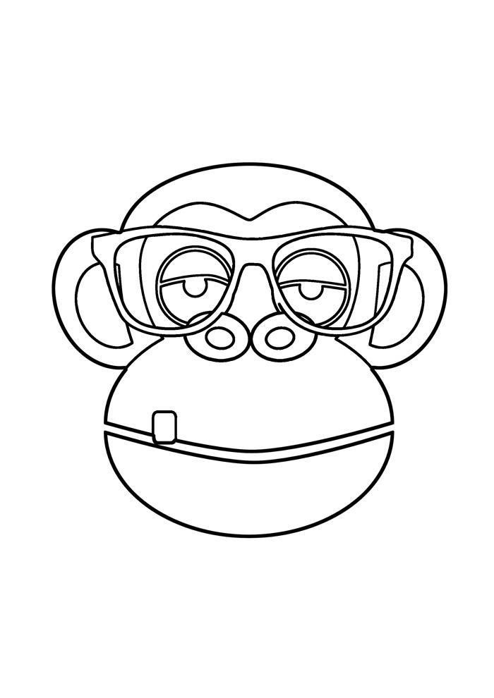 macaco para colorir 33