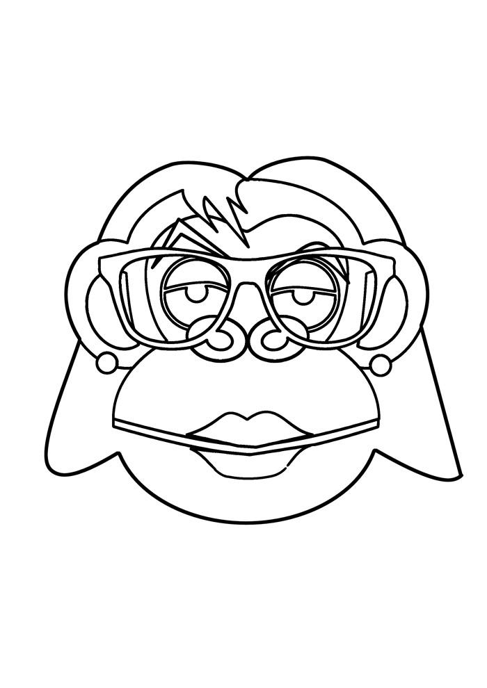 macaco para colorir 34