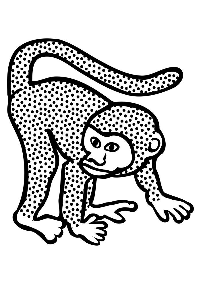 macaco para colorir 35