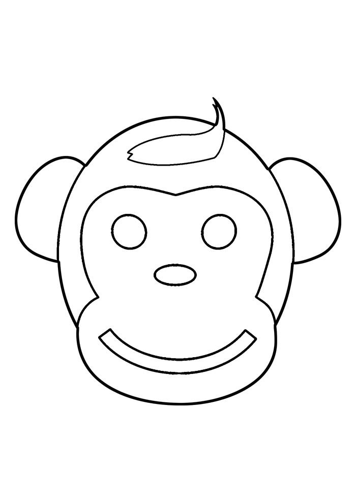 macaco para colorir 36