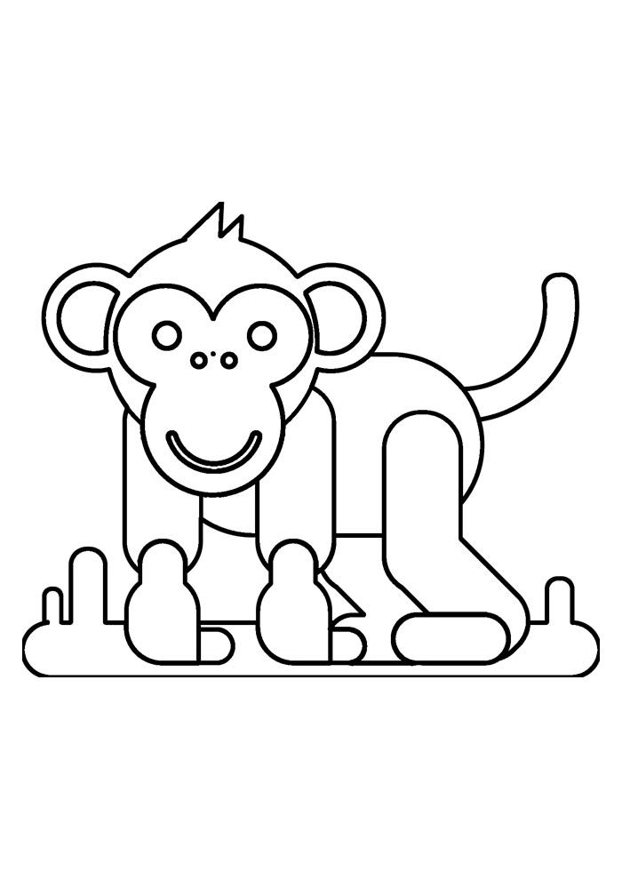 macaco para colorir 38