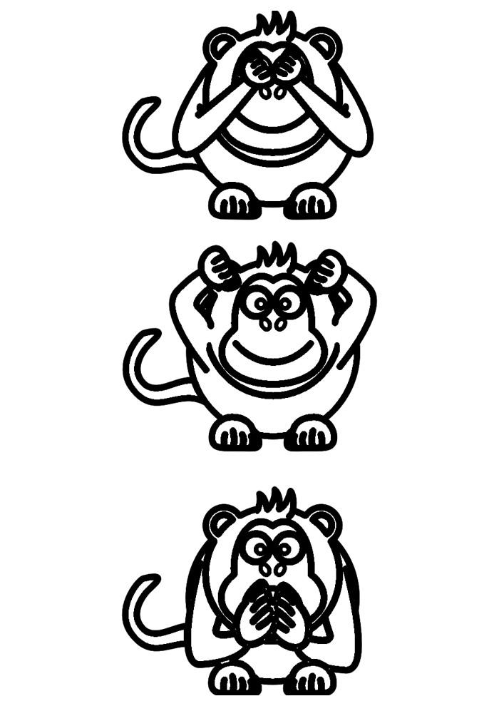macaco para colorir 47