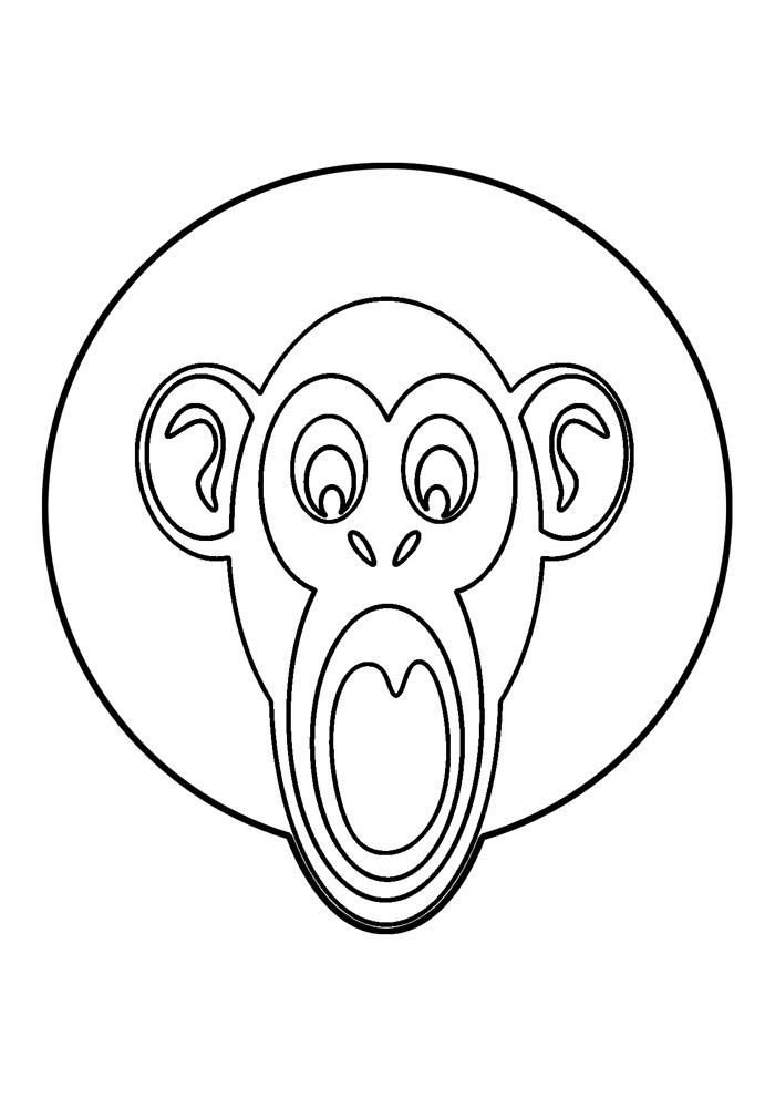 macaco para colorir 50
