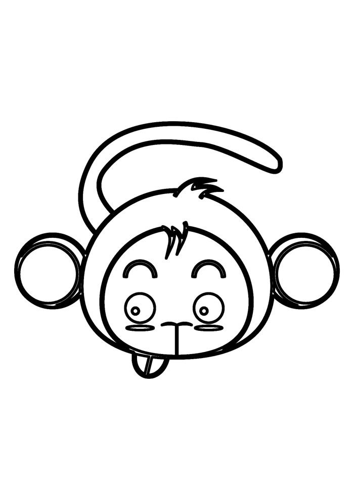 macaco para colorir 7