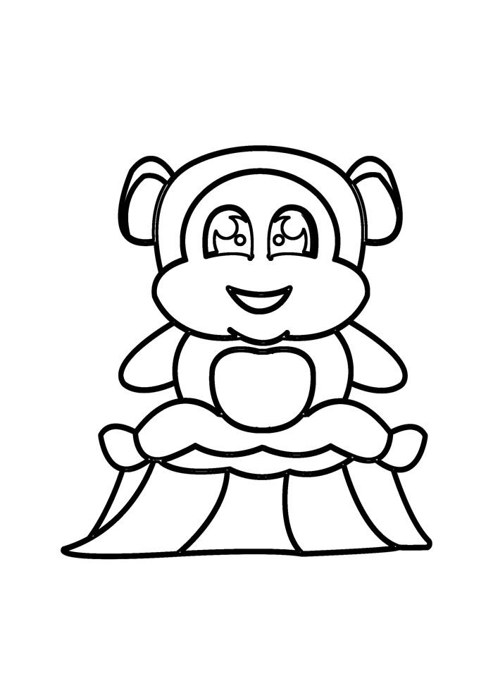 macaco para colorir 8