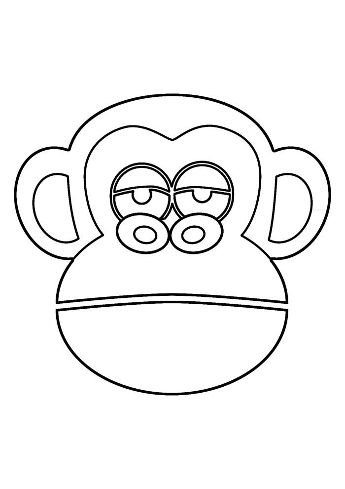 macaco para colorir 9