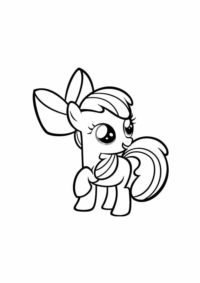 my little pony baby para colorir