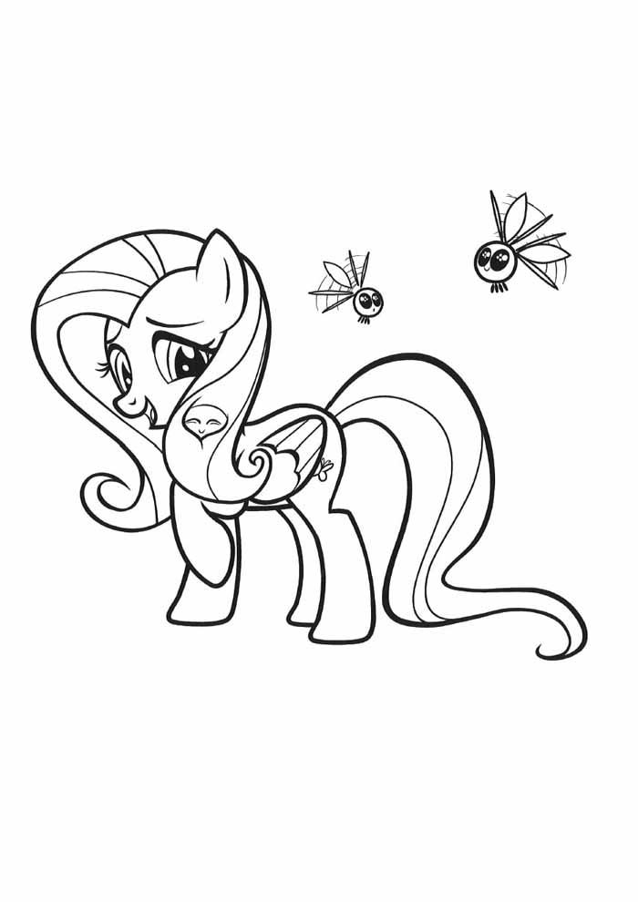 my little pony e abelhas para colorir