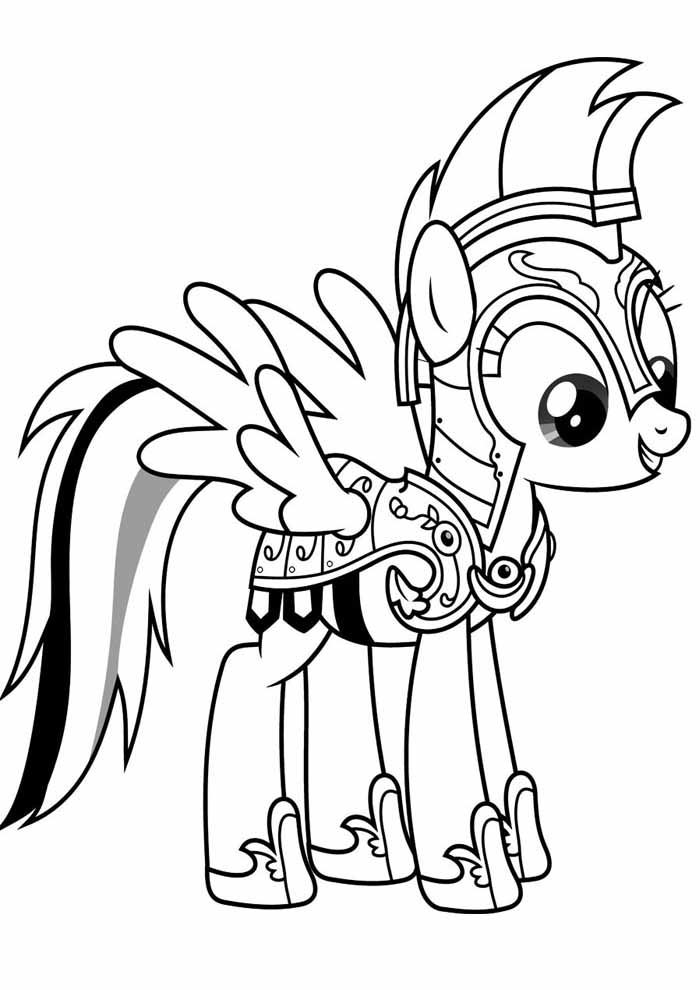 my little pony gladiador para colorir