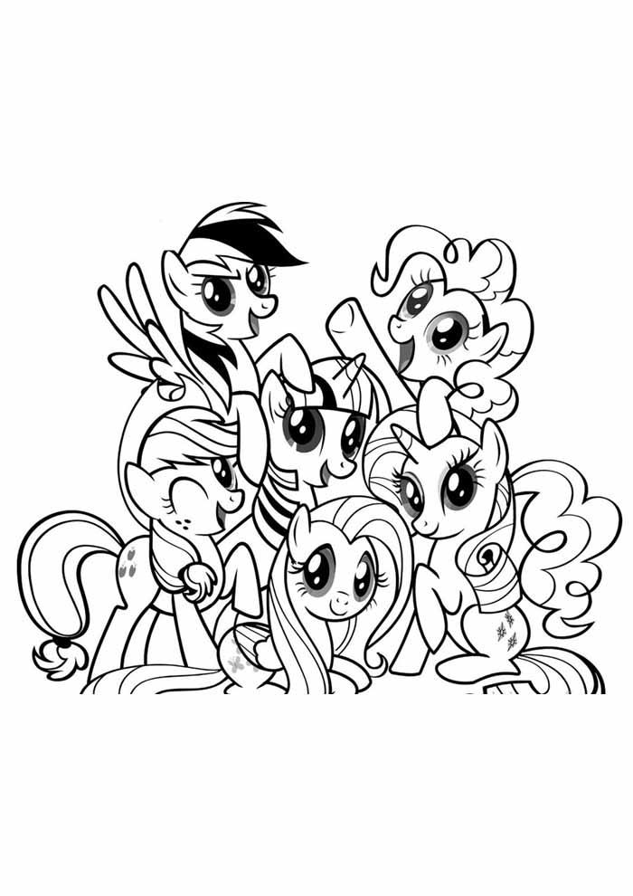 my little pony para colorir 18