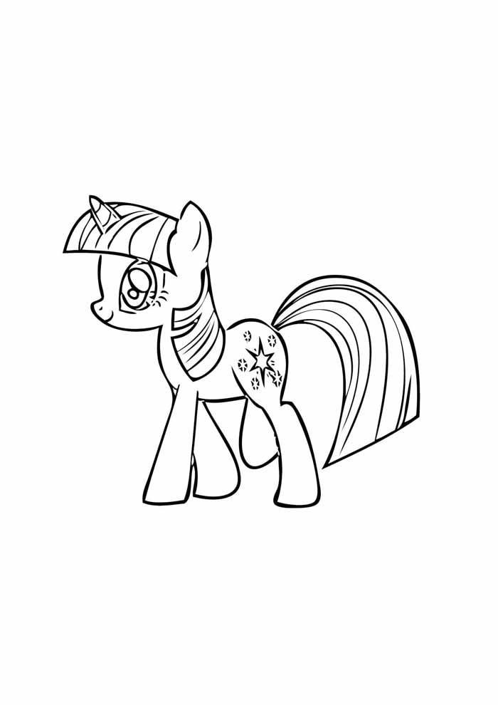 my little pony para colorir caminhando