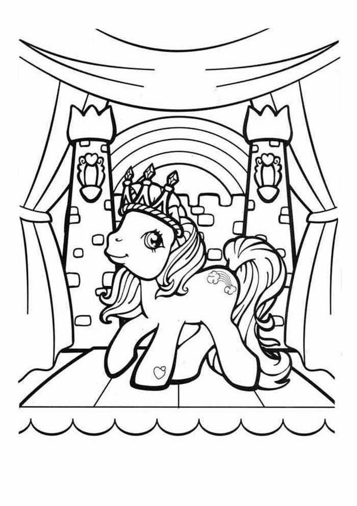my little pony para colorir castelo