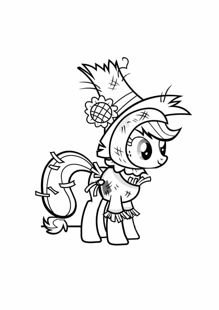 my little pony para colorir cowboy