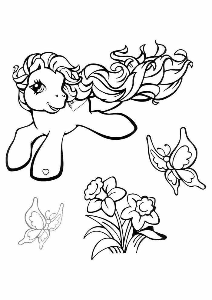 my little pony para colorir flores