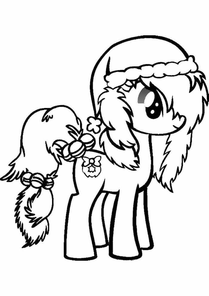 my little pony para colorir natal