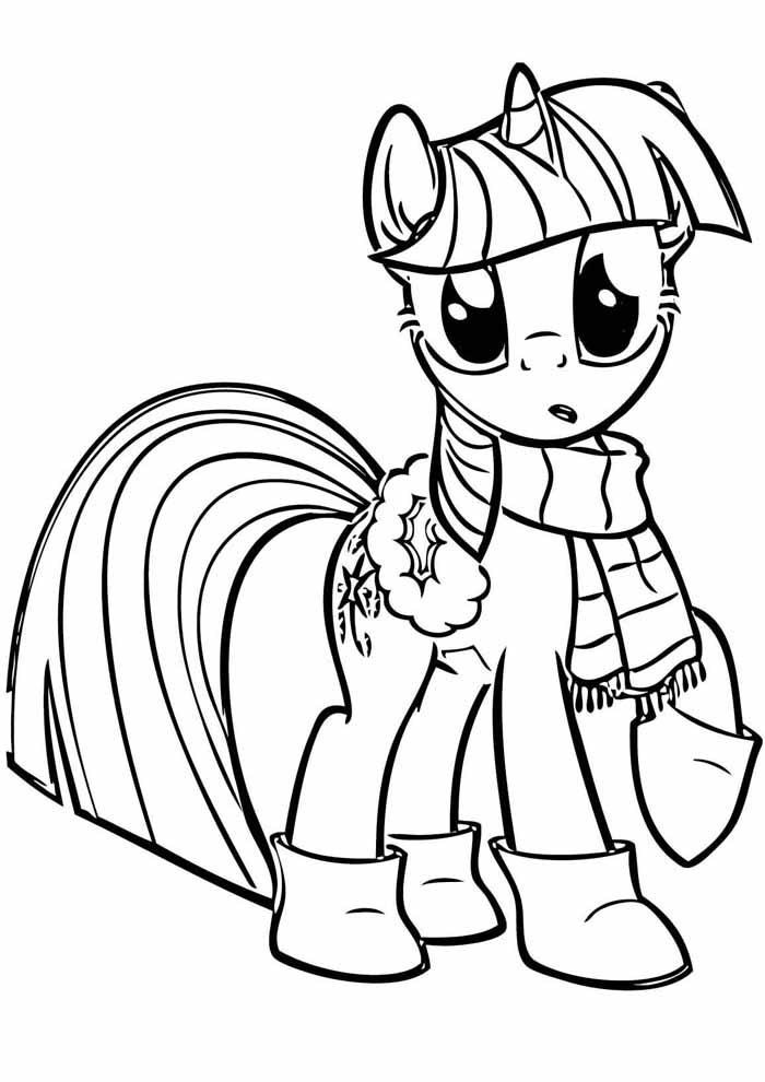my little pony para colorir no inverno
