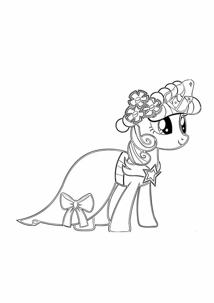 my little pony para colorir noiva