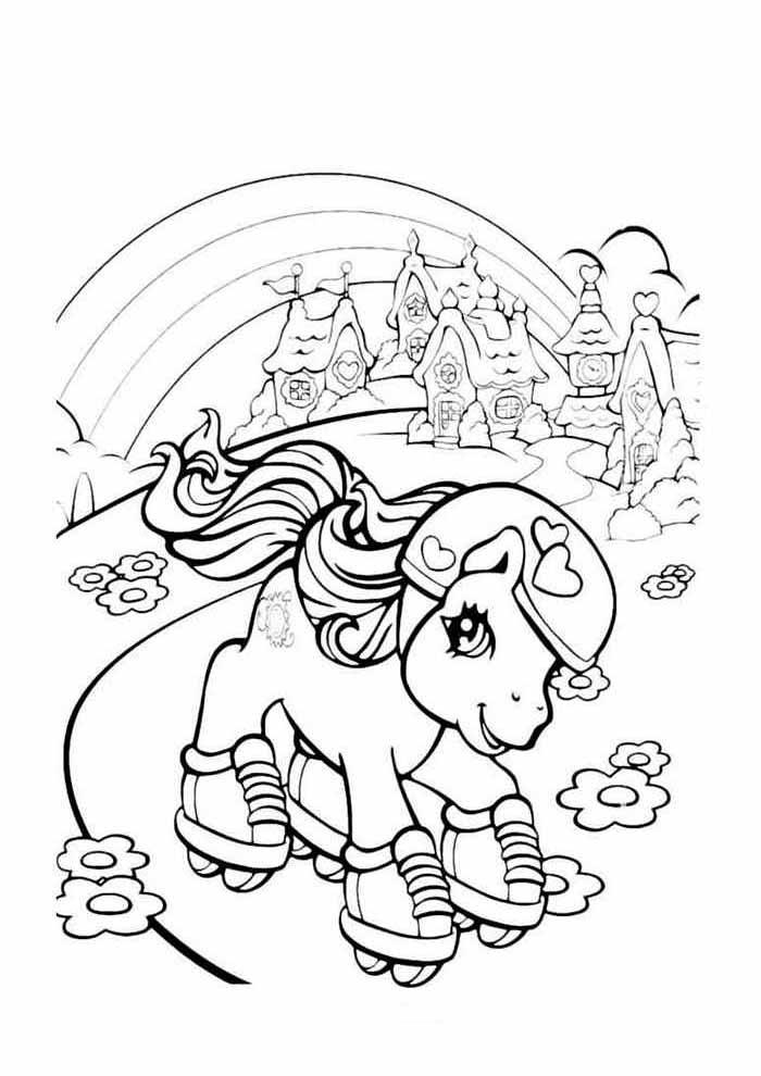 my little pony para colorir patinando