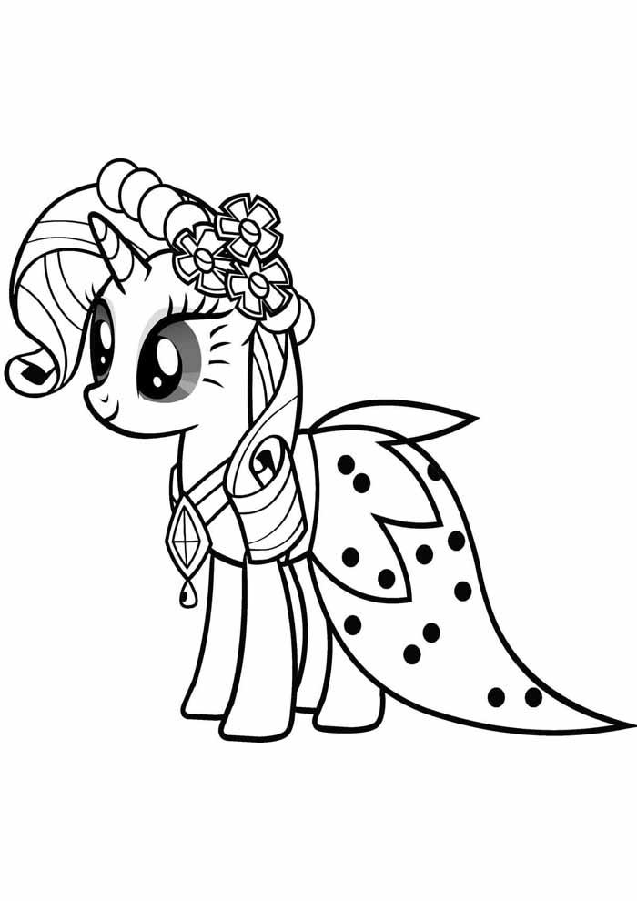 my little pony para colorir princesa