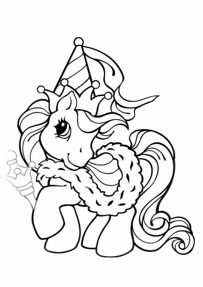 my little pony rei para colorir
