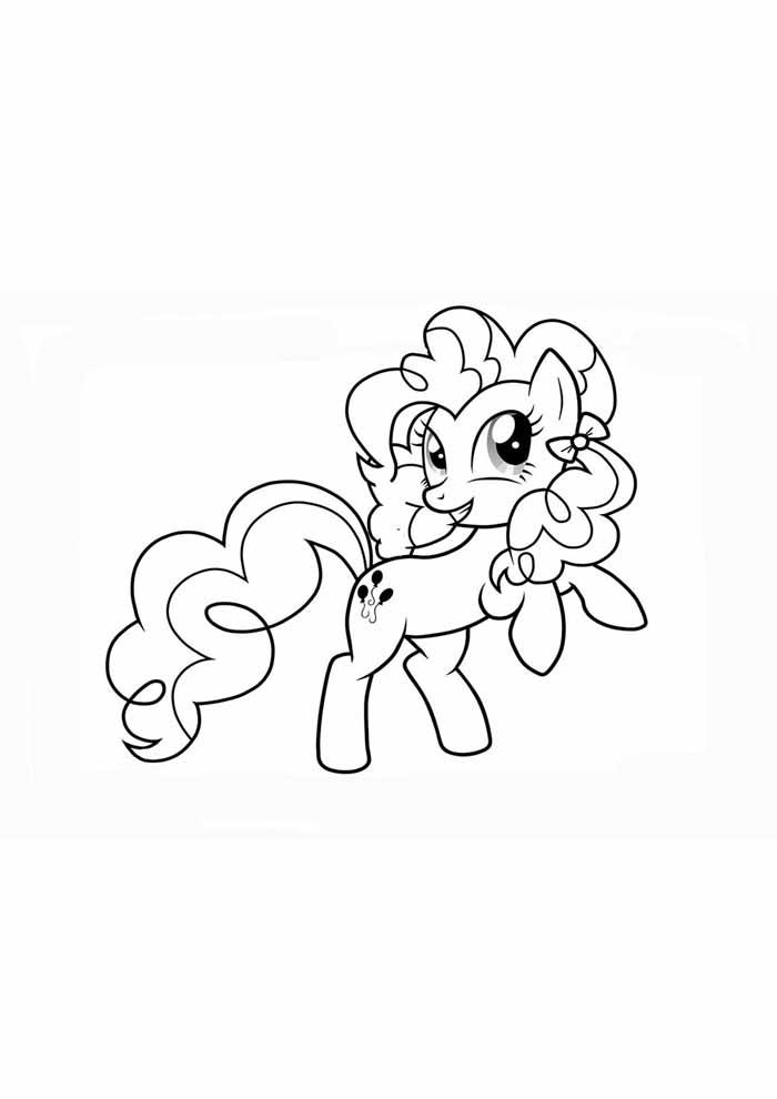 my little pony saltando para colorir