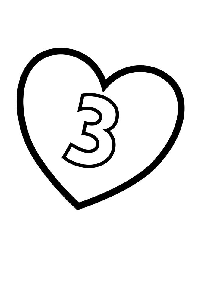 numero ilustrado para colorir 3
