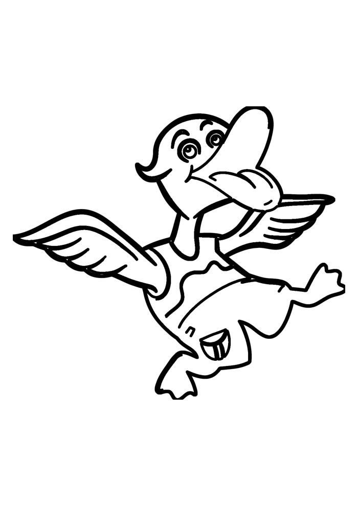 pato para colorir 2