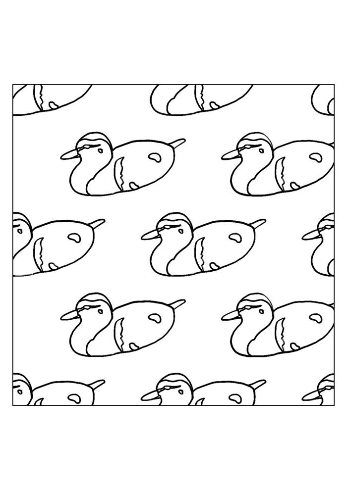pato para colorir 32