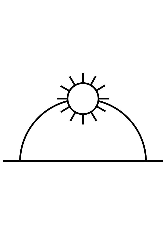 sol para colorir 13