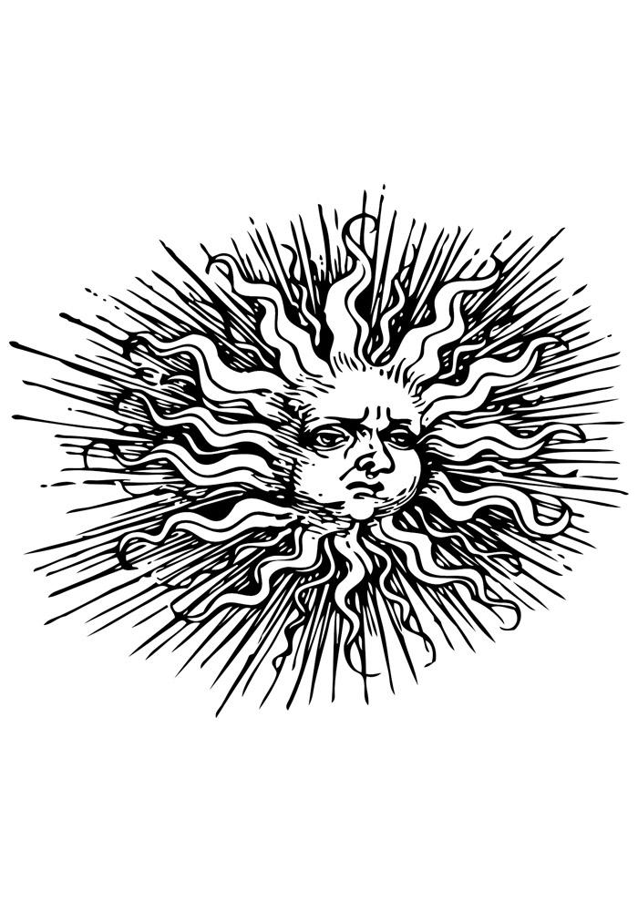 sol para colorir 14