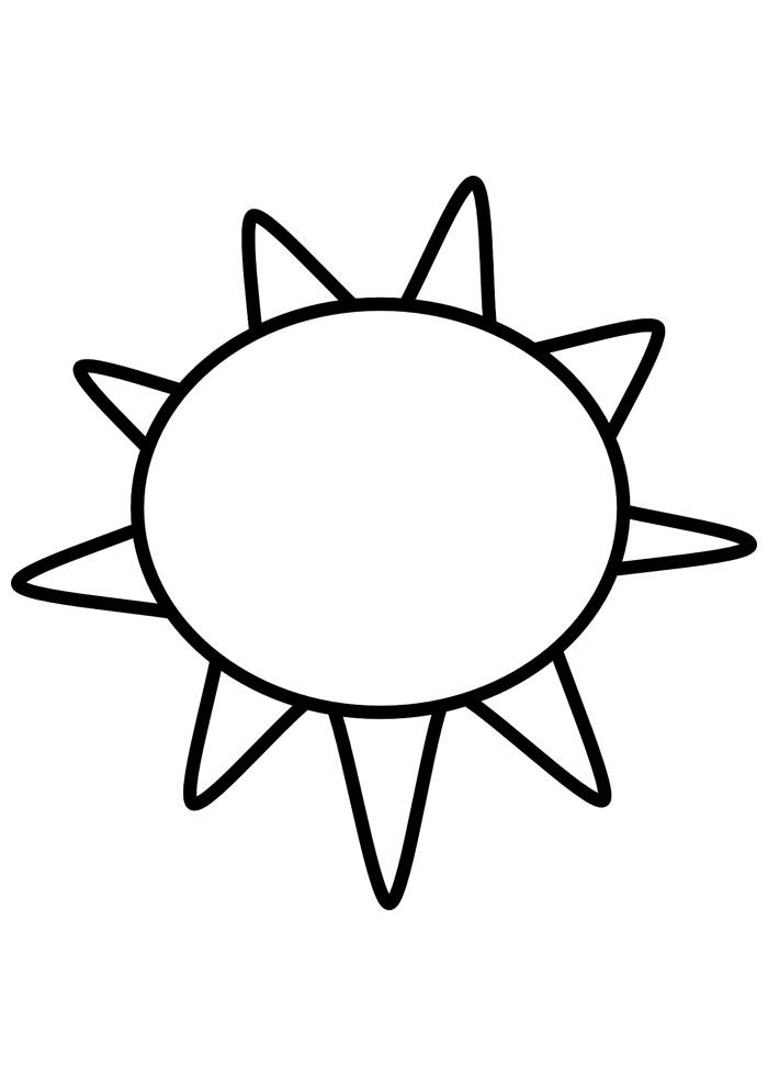 sol para colorir 19