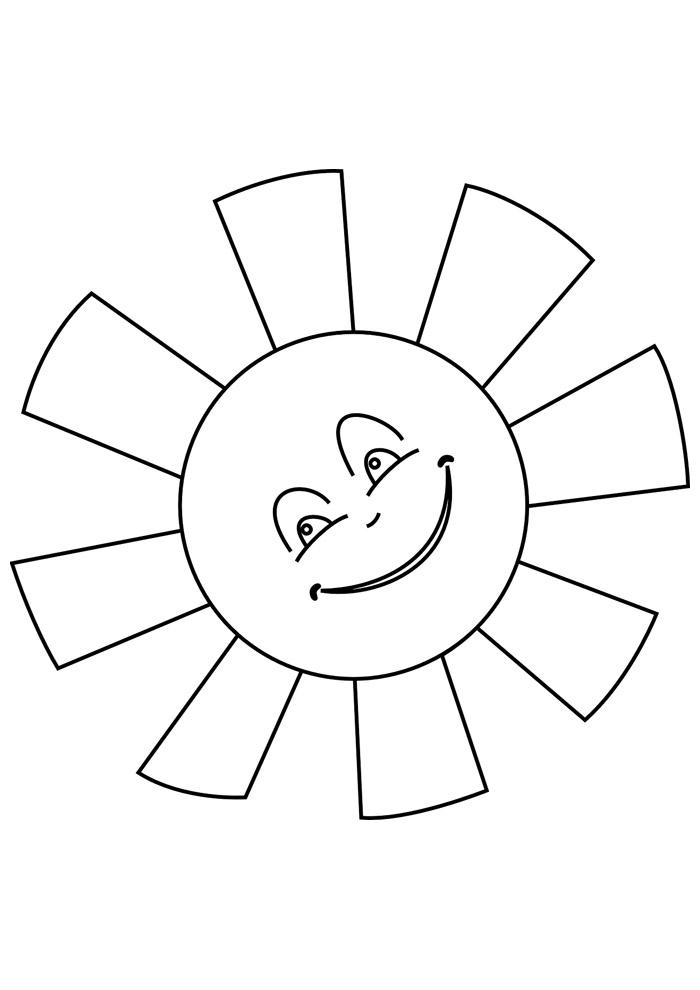 sol para colorir 21