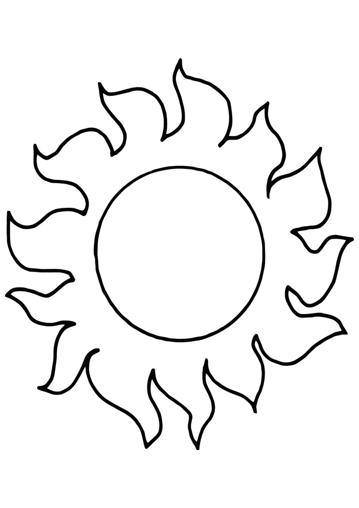 sol para colorir 23
