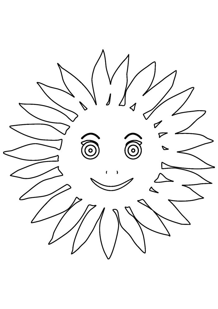 sol para colorir 27