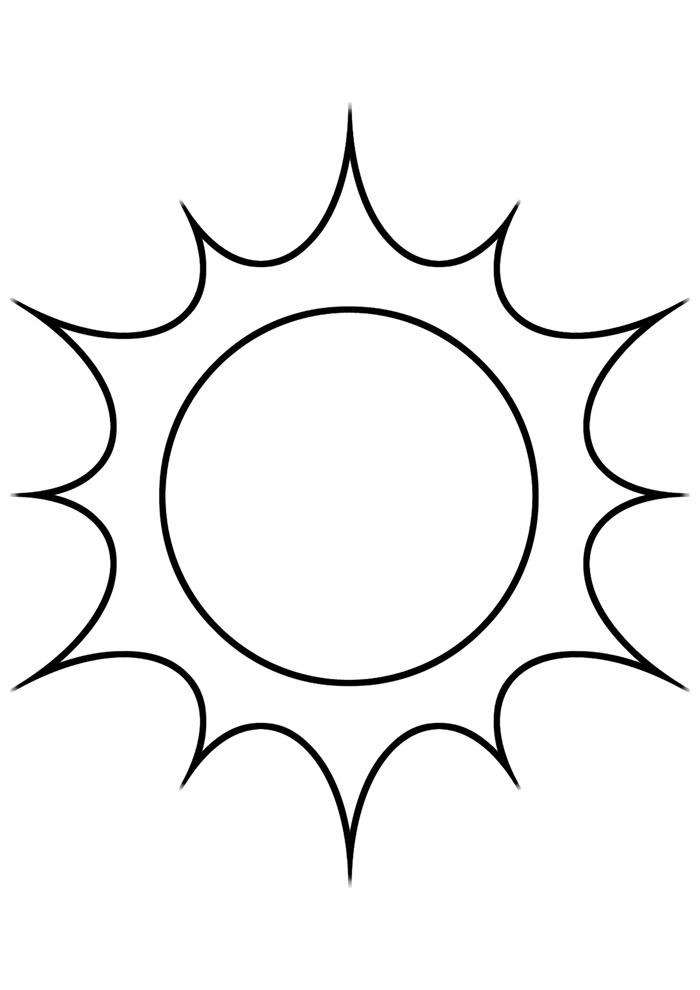 sol para colorir 4