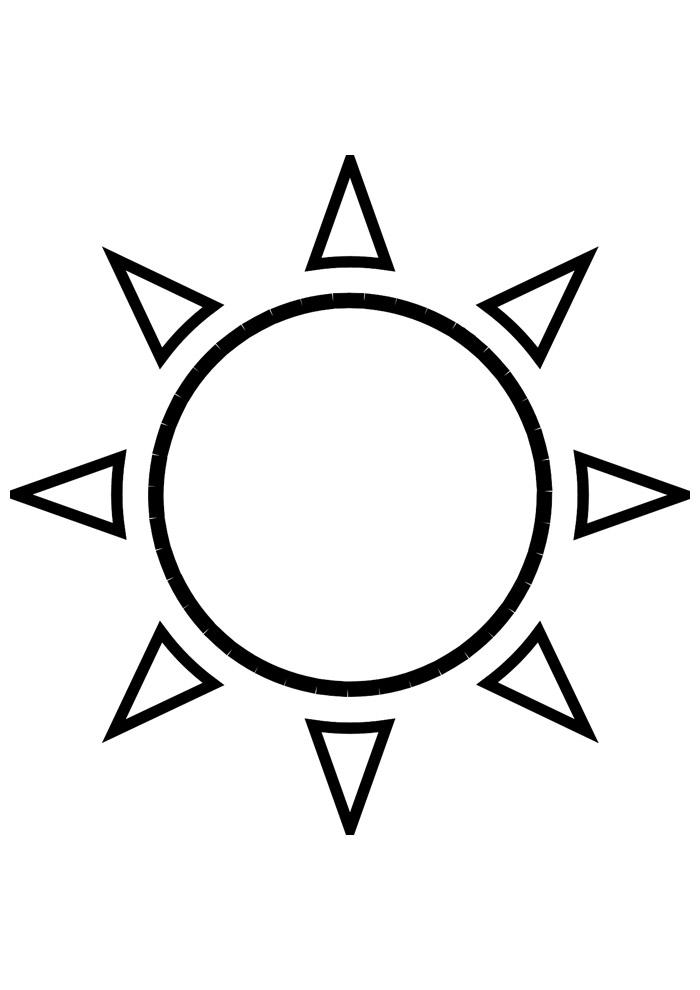 sol para colorir 5
