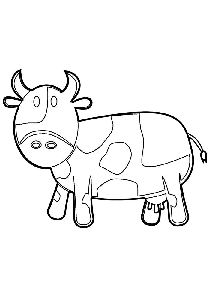 vaca para colorir 1