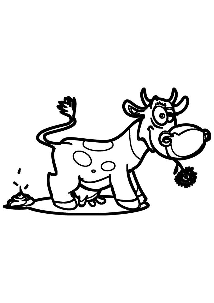 vaca para colorir 11